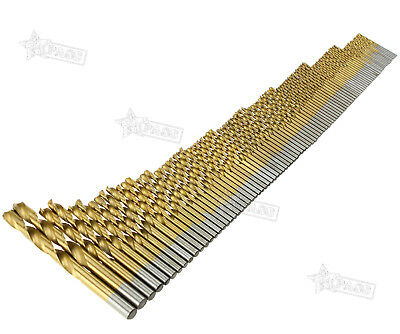 99pcs 1.5mm - 10mm Titanium Coated HSS High Speed Steel Drill Bit Set Tool AU