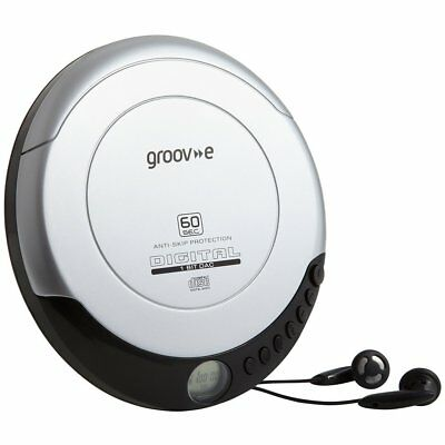 Groov-e Retro Series Personal CD Player with Earphones - Silver