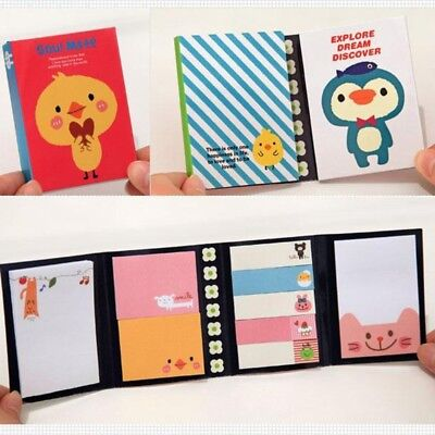 Cute Cartoon Animal Sticky Note Memo Pad Label Notebook  Stationery Gift