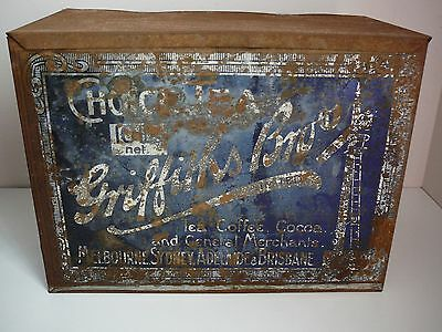 Griffith's Choice Tea Vintage Tin 10lbs Australia Advertising Collectable