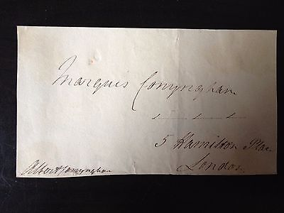Albert Denison Coynyngham - Politician And Diplomat - Signed Envelope Front