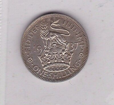 1937 George Vi Proof English Shilling In Near Mint Condition
