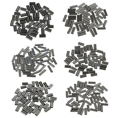 50pcs Sea Fishing Crimps Double Barrel Crimping Sleeves Wire Trace 0.8 - 2mm