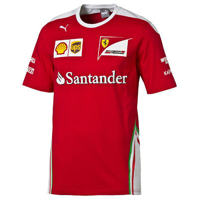 Scuderia Ferrari Mens Formula One SF Team Tee T-Shirt 37% OFF RRP