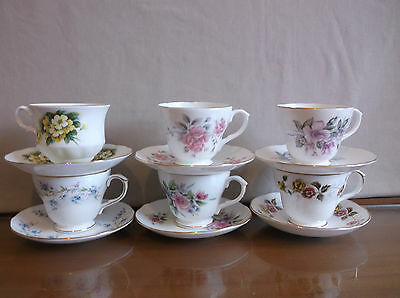 Choice of Duchess Bone China Tea Cups and Saucers