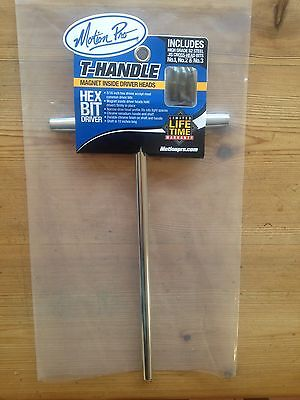 New Motion Pro T Handle Magnetic Bit Driver Tool  Mx Enduro Trail Road Race