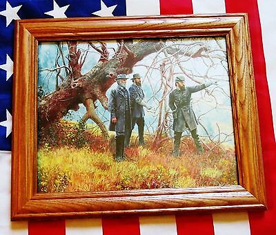 Civil War Painting Print. Manassas, Robert E Lee, Stonewall Jackson, Longstreet
