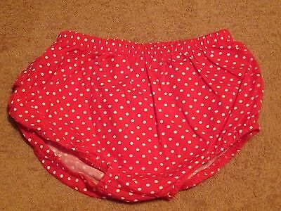 Baby Girl Red Polka Dot Bloomers/Pants,Diaper Nappy Cover Bottoms Size 6/9 M
