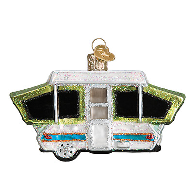 """""""Tent Camper"""" (46068) Old World Christmas Ornament w/OWC Box"""