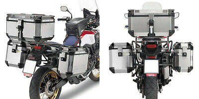 Givi Silver 48/37 L Outback Side Cases & Mount Kit - Honda CRF1000L Africa Twin