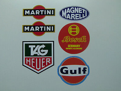 XL SET 6er Retro Oldschool Aufkleber Sticker Set Youngtimer Bergrennen Ralley