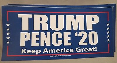 Wholesale Lot Of 20 Trump Pence '20 Keep America Great Campaign Stickers 2020