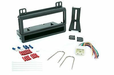 Single Din Dash Kit for Car Radio Stereo Install W/ Wire Harness and Connectors