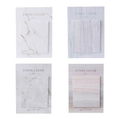 Marble Stone Self-Adhesive Color Memo Pad Sticky Note Page Marker Planner