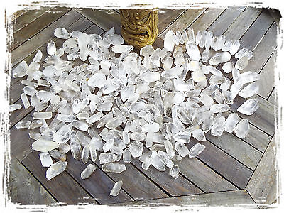 Lot of 3 Quartz Crystals - Rough Raw Natural Unpolished Points FREE USA SHIPPING
