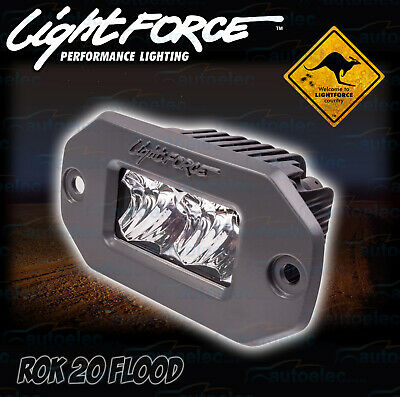 Lightforce Rok 20 Flood Cree Led Work Light Lamp Bar 1700 Lumens Rok20Ff Flush