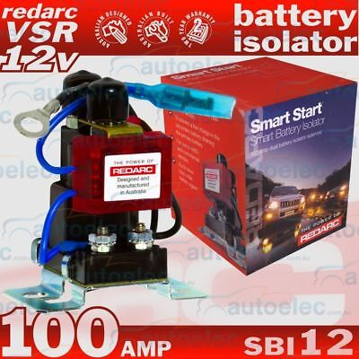 Redarc Sbi12 Dual Battery Batteries 12V Volt Charger Solinoid Isolator Vsr Smart