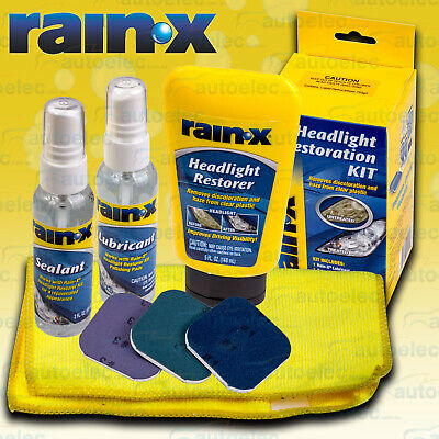 Rain-X Headlight Headlamp Light Lens Repair Restore Restoration Maintenance Kit