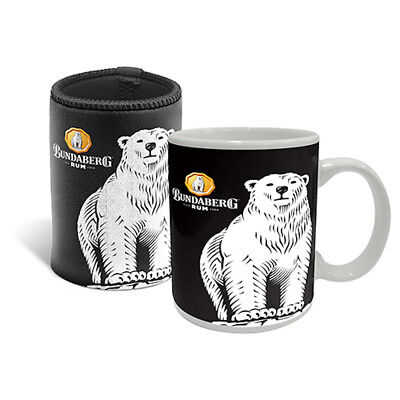 Bundaberg Rum Logo Mug and Can Cooler Stubby Holder Gift Set