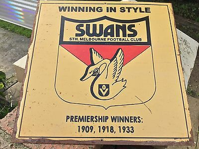 Tin Sign AFL / VFL South Melbourne Swans
