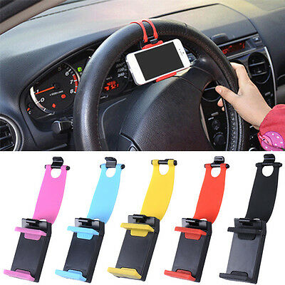 Universal Auto Car Steering Wheel Mobile Phone Holder for Smartphone Easy to Use