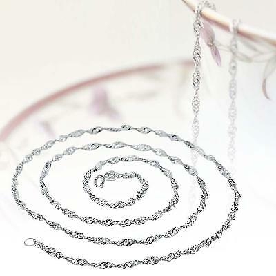 Fashion Pure Solid 925 Sterling Silver Rope Chain Necklace with Lobster Clasp GH
