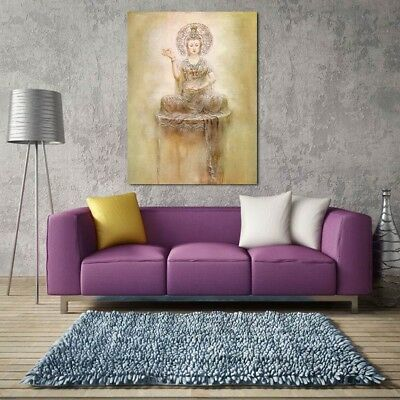 Buddha Room Canvas Print Wall Art Oil Painting Picture Mural Home Decor Unframed