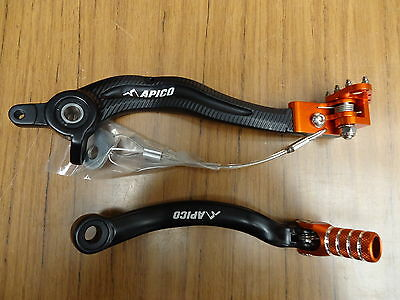 KTM EXC EXC-F 250 350 450 500 17 18 19 Rear Brake & Gear Pedal Lever Set Apico