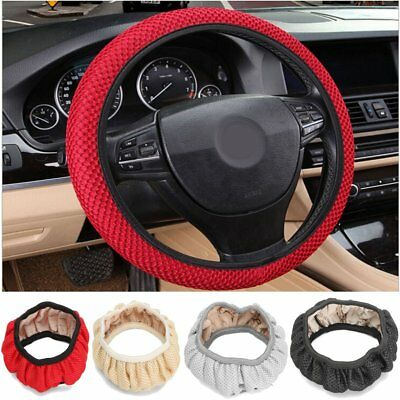 Universal 38CM Car Steering Wheel Cover Anti Slip Summer Cool Elastic Fabric