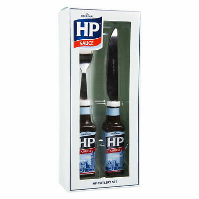 Heinz Hp Sauce Cutlery Set Knife Fork Brown Bottle 3D Retro Novelty Gift 2 Piece