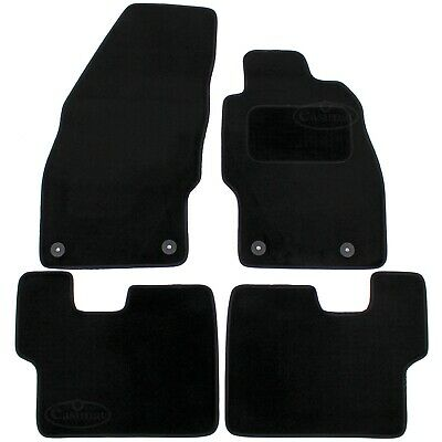Vauxhall Corsa D & E Tailored Carpet Car Mats 2006 onwards Black 4pcs Floor 555