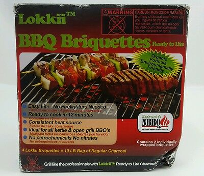 Lokkii Ready 2 Lite premium Barbeque Briquettes 2 Individually Wrapped GRILL BBQ