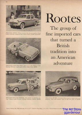 1959 Hillman Sunbeam~Humber~Rootes~Rapier~Singer car Ad : Vintage Advertising