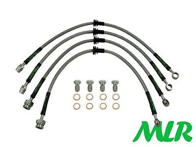 Toyota Mr2 & Turbo Sw20 Stainless Steel Braided Brake Lines Hoses Pipes Vb