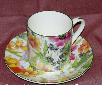 English Bone China~SPRING FLORAL  CHINTZ  ~Espresso/After Dinner Cup&Saucer