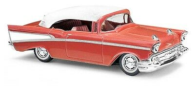 Busch 45038 Chevrolet Bel Air '57 Cabriolet Closed Red, H0 Car Model 1:87