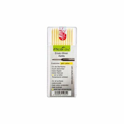 Pica Dry Marker Pen/Pencil REFILL Yellow Pack of 10 4032