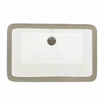 MR Direct U1812-Bisque Undermount Rectangular Bathroom Sink