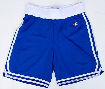 Mens C Champion Basketball Shorts Over the knee Blue Size Large L