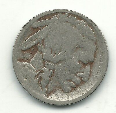 A Vintage 1919 S Buffalo Nickel-Old Us Coin-Agt095