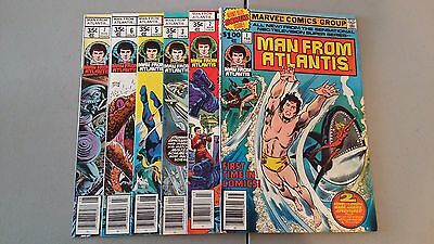 (1978) Marvel Comic Man From Atlantis Set Lot (6) 1,2,3,5,6,7 Flat Rate Shipping