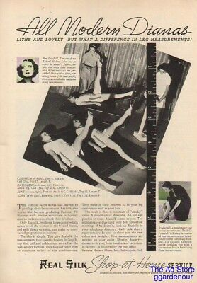 1937 Real Silk Hosiery Mills Indianapolis IN Stockings Exercise Salon Nylons Ad