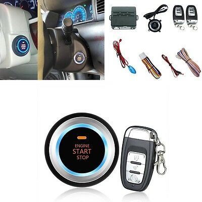 Car Engine Ignition Push Start Button Safe Alarm System Security Audible -New