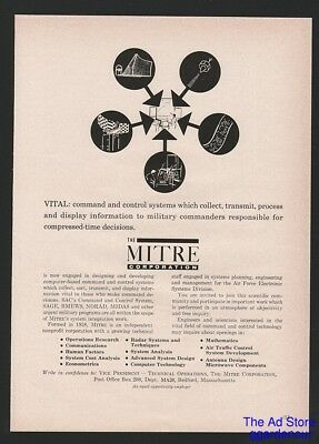 1962 MITRE Corporation MA DC CO USAF FAA VITAL Career Opportunity Employment Ad