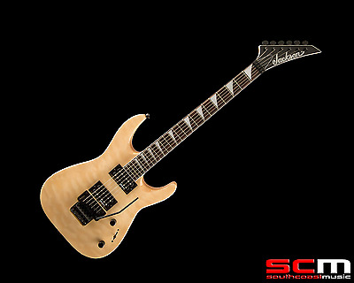 Jackson Dinky JS32Q Electric Guitar Carved Quilt Maple Top Natural Blonde NEW!