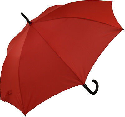 Blooming Brollies Classic Auto Stick Umbrella - Red