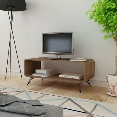 tv schrank hifi fernsehtisch lowboard tv board couchtisch kaffeetisch mdf braun eur 96 99. Black Bedroom Furniture Sets. Home Design Ideas