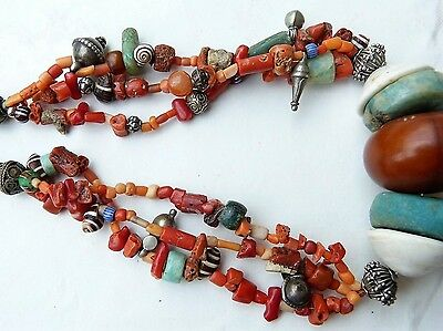 Moroccan Jewelry, Berber Beduin Dowry style necklace