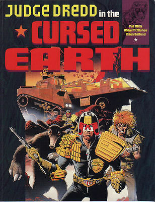 """2000AD ft JUDGE DREDD in """" THE COLLECTED CURSED EARTH """" GRAPHIC NOVEL - VGC"""