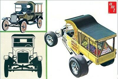 1925 Ford T Fruit Wagon and Roadster 1/25 scale skill 2 AMT model kit#869